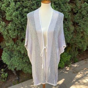 Ella Moss Front Tie Knit Poncho/Kimono